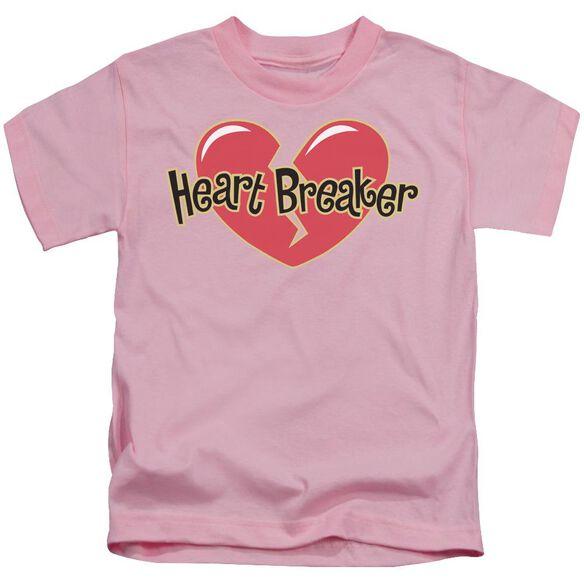 Heart Breaker Short Sleeve Juvenile Pink T-Shirt