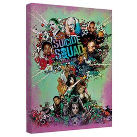 Suicide Squad Bomb Poster Canvas Wall Art With Back Board