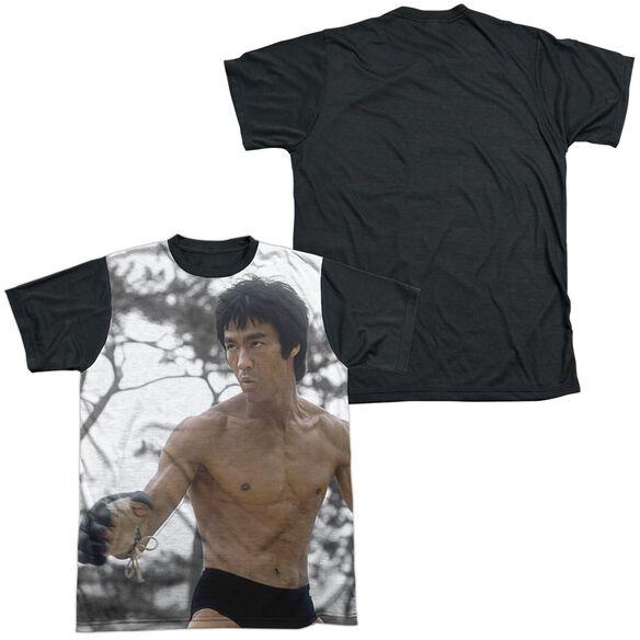 Bruce Lee Battle Ready Short Sleeve Adult Front Black Back T-Shirt