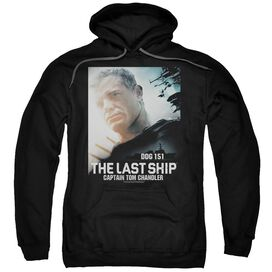 Last Ship Captain Adult Pull Over Hoodie Black
