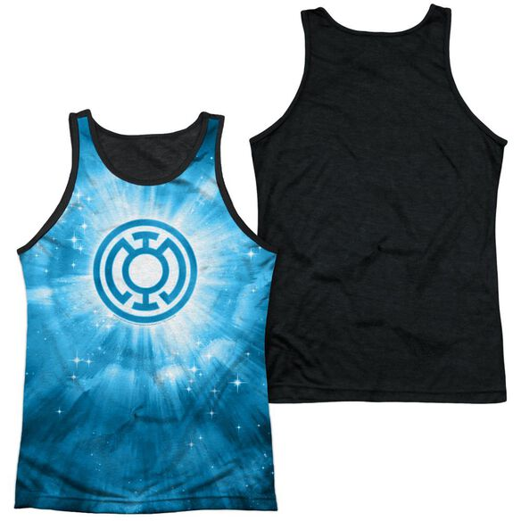 Green Lantern Blue Energy Adult Poly Tank Top Black Back