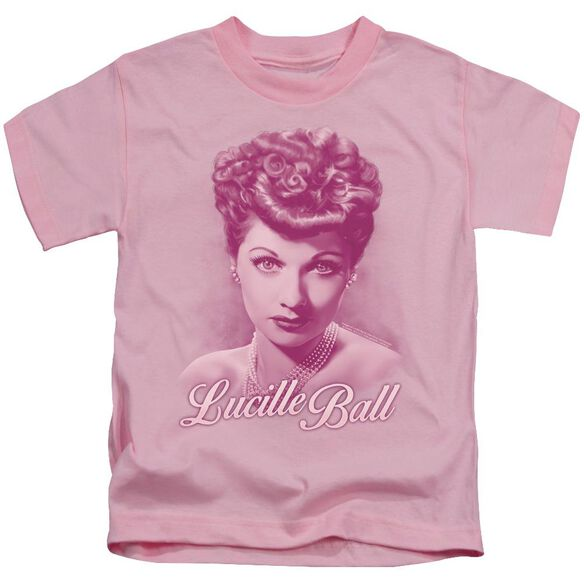 Lucille Ball Pearls Short Sleeve Juvenile Pink T-Shirt
