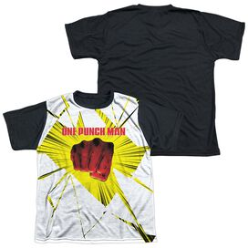 One Punch Man Shattered Short Sleeve Youth Front Black Back T-Shirt