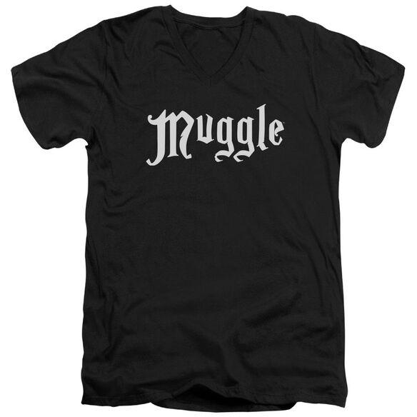Harry Potter Muggle Short Sleeve Adult V Neck T-Shirt
