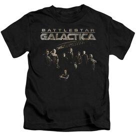 Battlestar Galactica Battle Cast Short Sleeve Juvenile Black T-Shirt
