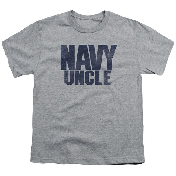 Navy Uncle Short Sleeve Youth Athletic T-Shirt