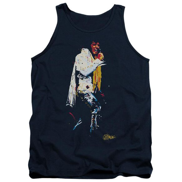 Elvis Yellow Scarf Adult Tank