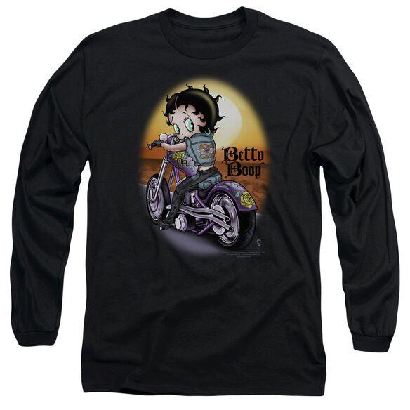 Betty Boop Wild Biker Long Sleeve Adult T-Shirt