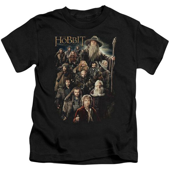 The Hobbit Somber Company Short Sleeve Juvenile Black T-Shirt