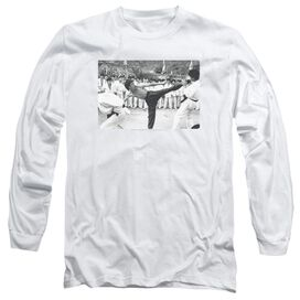 Bruce Lee Kick To The Head Long Sleeve Adult T-Shirt