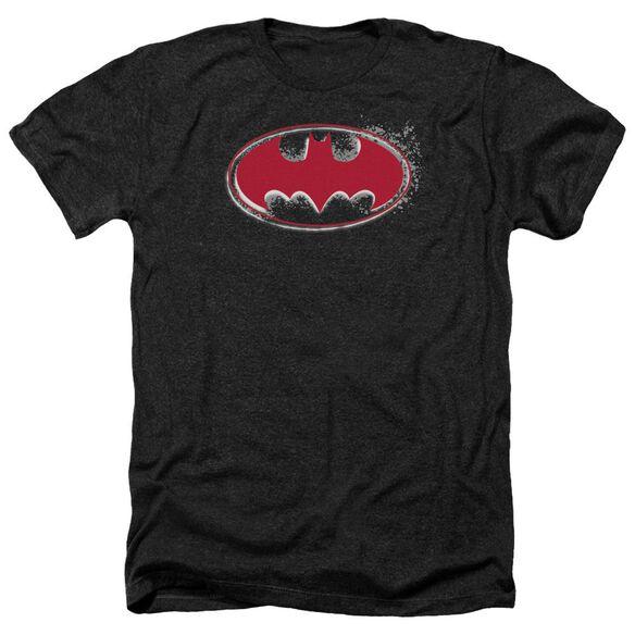 Batman Hardcore Noir Bat Logo Adult Heather