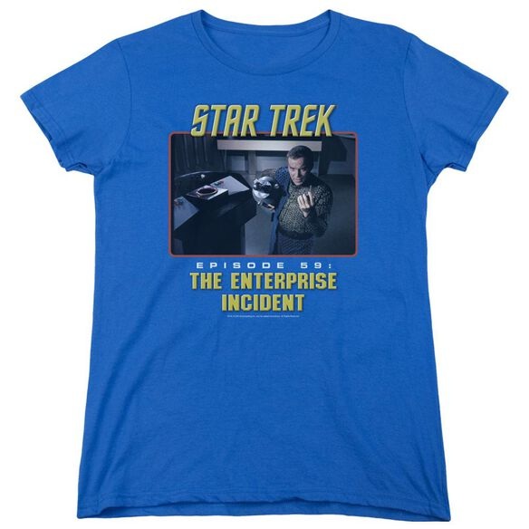 St Original The Enterprise Incident Short Sleeve Women's Tee Royal T-Shirt