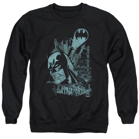 Batman Gritted Teeth Adult Crewneck Sweatshirt