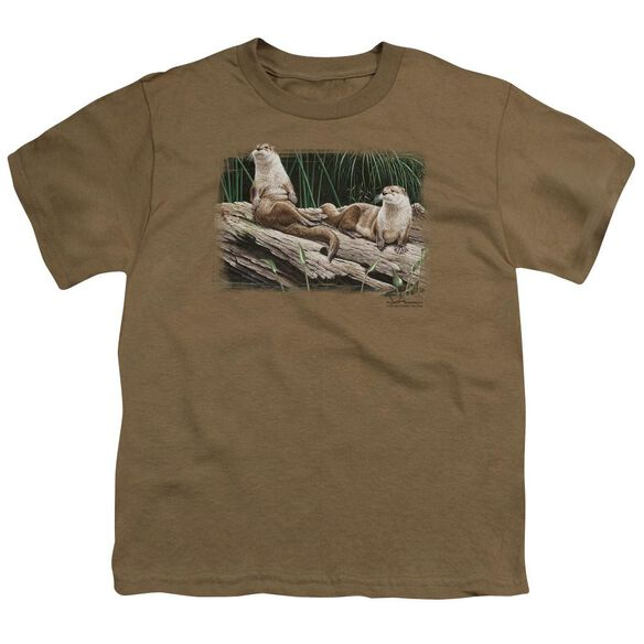 Wildlife River Otters Short Sleeve Youth Safari T-Shirt