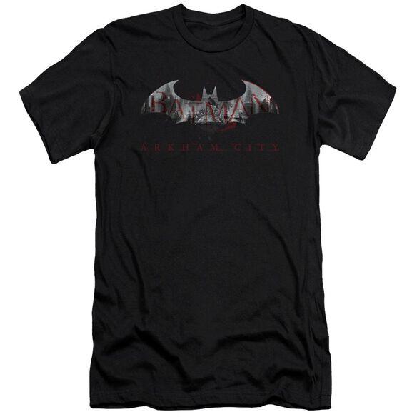Arkham City Bat Fill Short Sleeve Adult T-Shirt