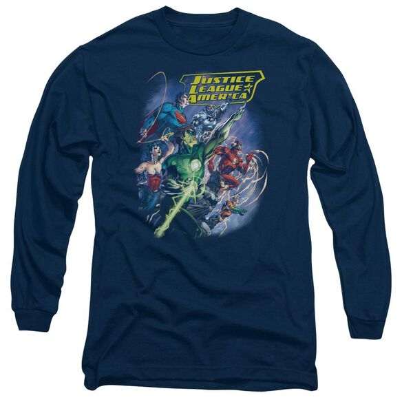 Jla Onward Long Sleeve Adult T-Shirt