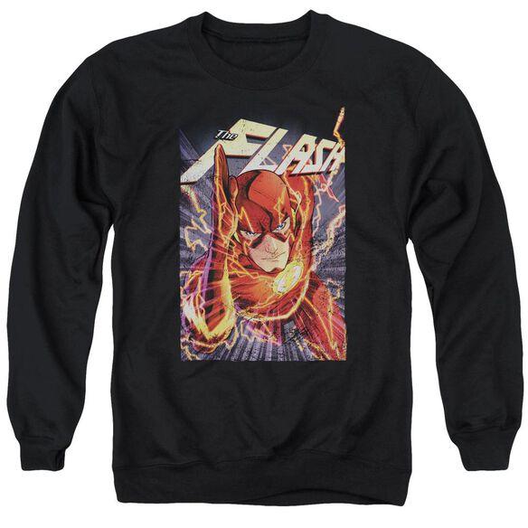 Jla Flash One Adult Crewneck Sweatshirt