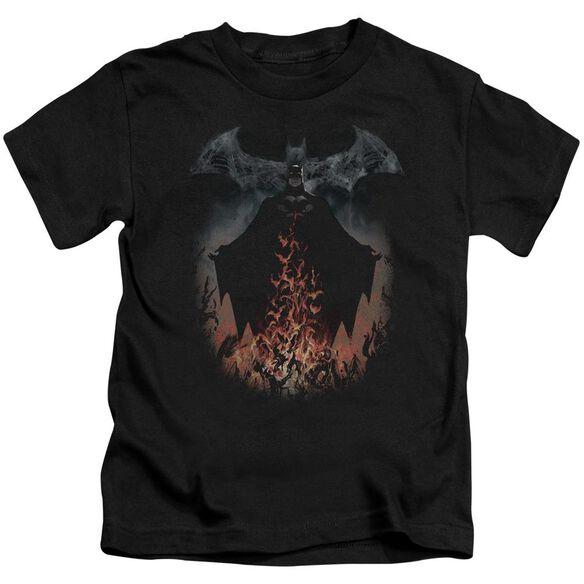 Batman Smoke & Fire Short Sleeve Juvenile T-Shirt