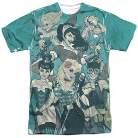 Jla Bombshell Group Short Sleeve Adult Poly Crew T-Shirt