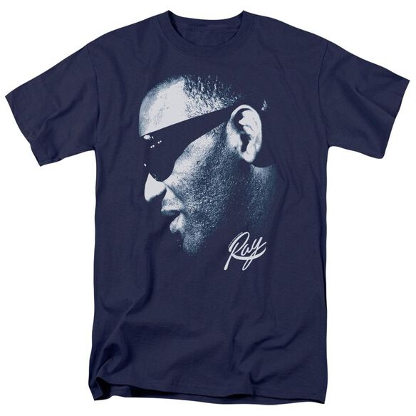 Ray Charles Blue Ray Short Sleeve Adult T-Shirt