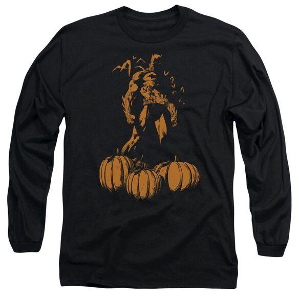 Batman A Bat Among Pumpkins Long Sleeve Adult T-Shirt