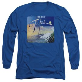 Zz Top Tejas Long Sleeve Adult Royal T-Shirt