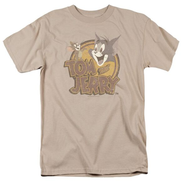 Tom And Jerry Water Damaged Short Sleeve Adult T-Shirt