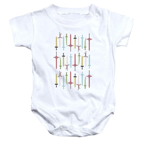 Adventure Time Swords Infant Snapsuit White