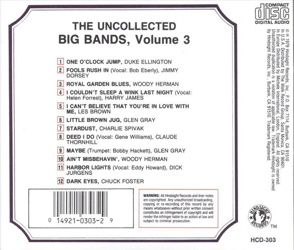 Vol. 3 Uncollected Big Ba