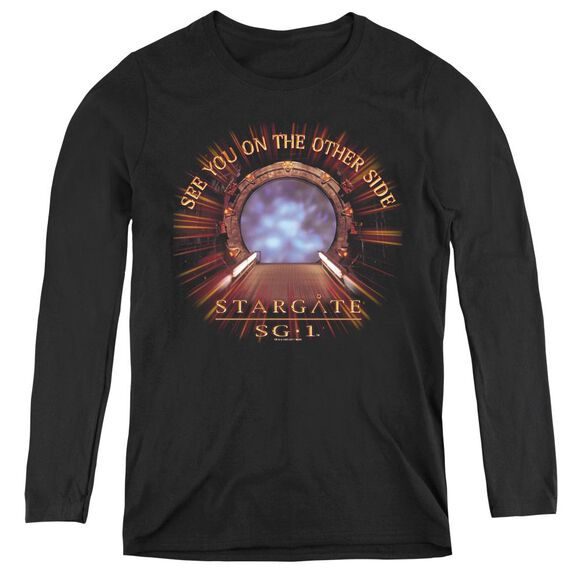 Sg1 Other Side - Womens Long Sleeve Tee - Black