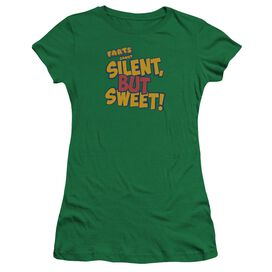 Farts Candy Silent But Sweet Premium Bella Junior Sheer Jersey Kelly