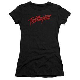 Ted Nugent Distress Logo Short Sleeve Junior Sheer T-Shirt