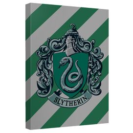 Harry Potter Slytherin Crest Canvas Wall Art With Back Board