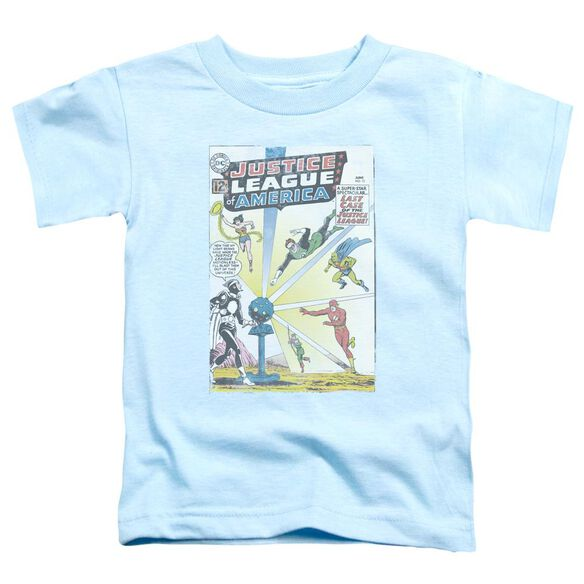 Jla Vintage Cover 12 Short Sleeve Toddler Tee Light Blue T-Shirt