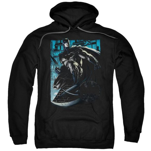 Batman Knight Falls In Gotham Adult Pull Over Hoodie