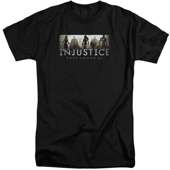 Injustice Gods Among Us Logo Short Sleeve Adult Tall T-Shirt
