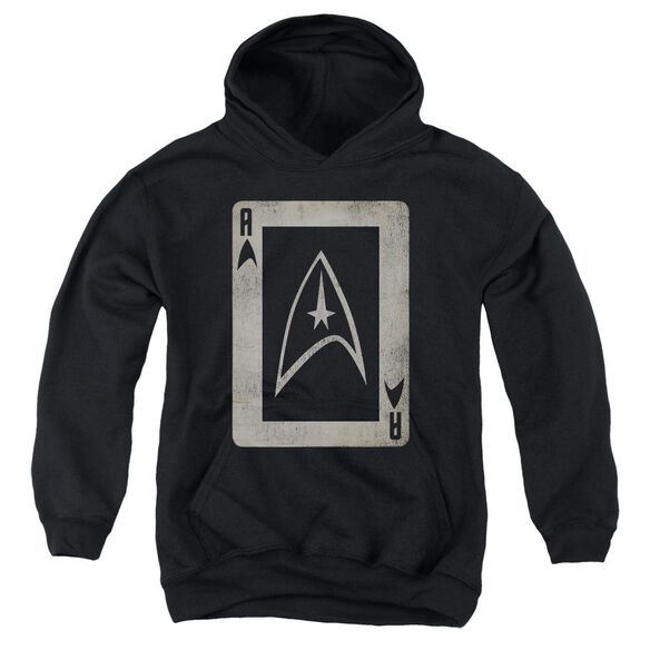 Star Trek Tos Ace Youth Pull Over Hoodie