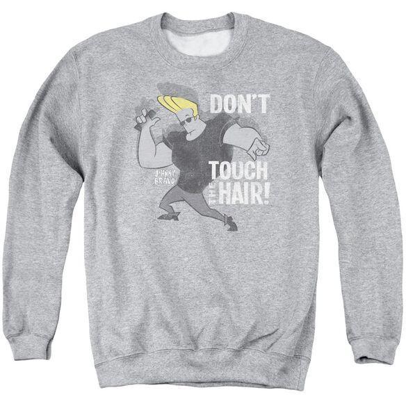 Johnny Bravo Hair Adult Crewneck Sweatshirt Athletic