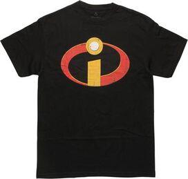 Incredibles Distressed Logo Black T-Shirt