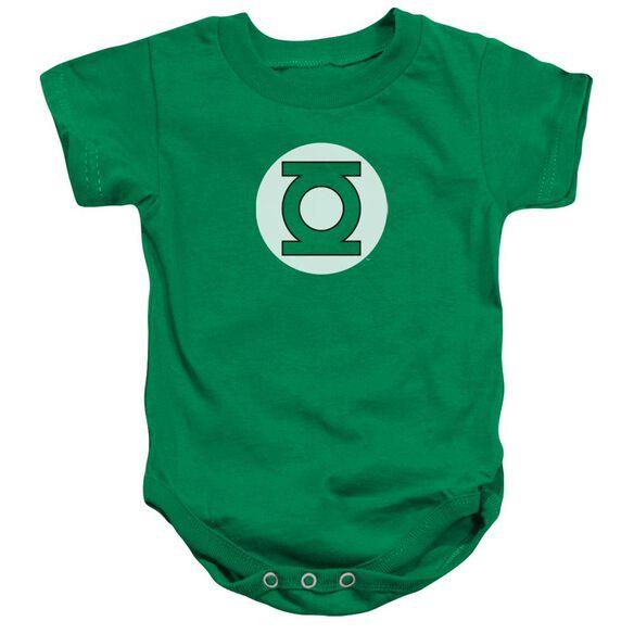 Dc Green Lantern Logo Infant Snapsuit Kelly Green Lg