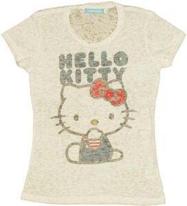 Hello Kitty Name Burnout Juniors T-Shirt