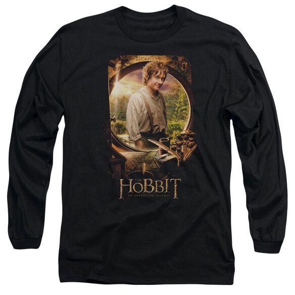 The Hobbit Bilbo Poster Long Sleeve Adult T-Shirt