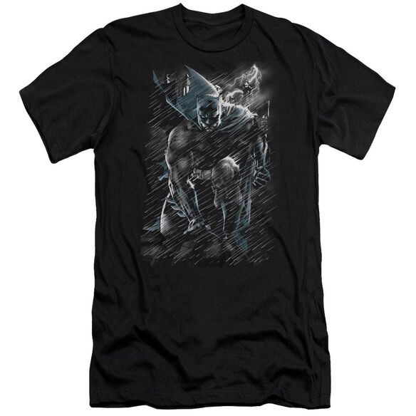 Batman In The Rain Short Sleeve Adult T-Shirt
