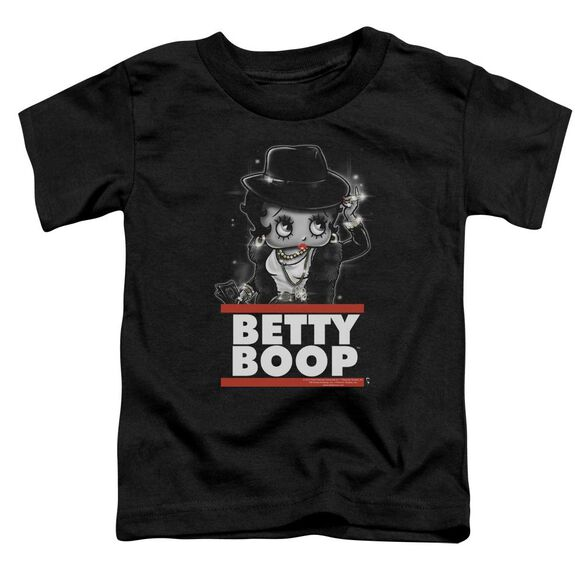 Betty Boop Bling Bling Boop Short Sleeve Toddler Tee Black Md T-Shirt
