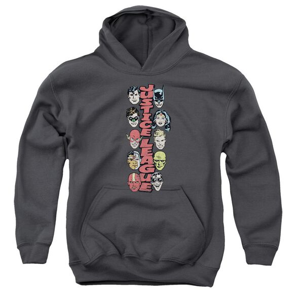 Dc Stacked Justice Youth Pull Over Hoodie