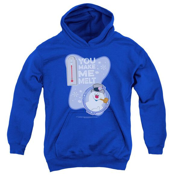 Frosty The Snowman Melt Youth Pull Over Hoodie Royal