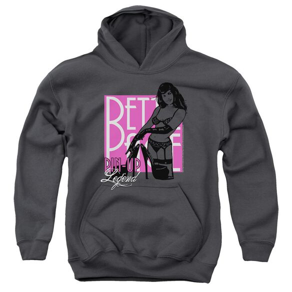 Bettie Page Pin Up Legend Youth Pull Over Hoodie