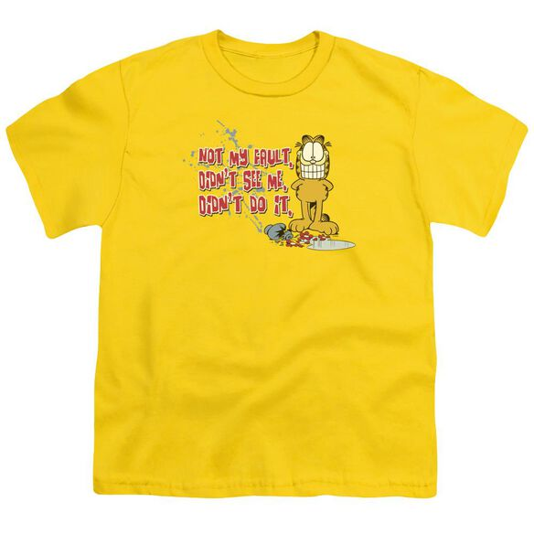 GARFIELD NOT MY FAULT - S/S YOUTH 18/1 - YELLOW T-Shirt