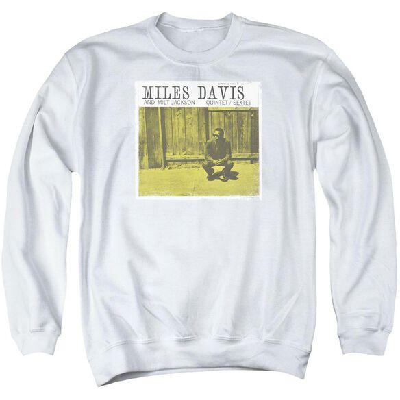Miles Davis Miles And Milt Adult Crewneck Sweatshirt