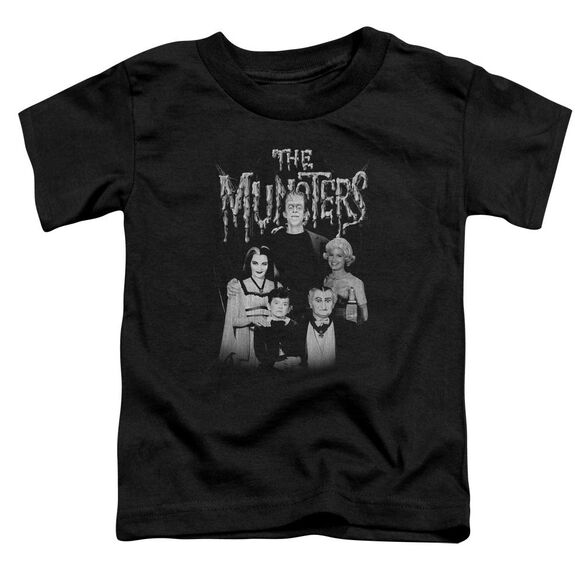 The Munsters Family Portrait Short Sleeve Toddler Tee Black T-Shirt